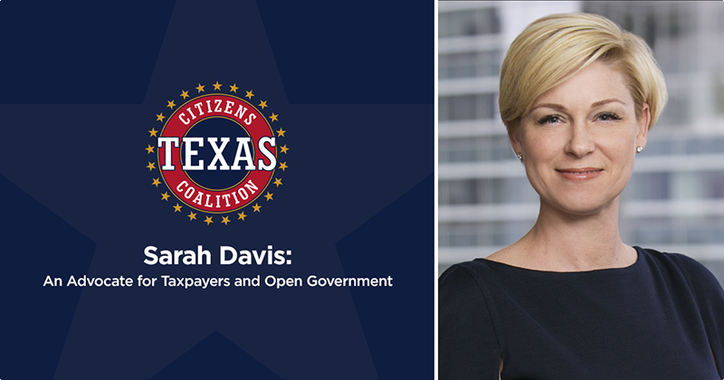 Sarah Davis: An Advocate for Taxpayers and Open Government